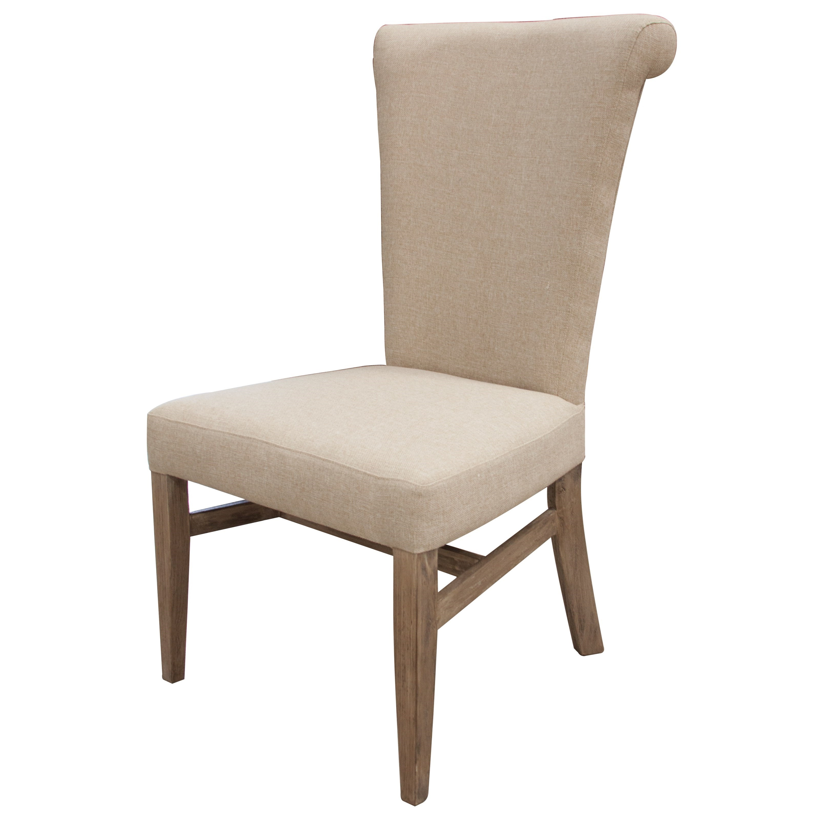 Bonanza Sand Upholstered Side Chair by International Furniture Direct at Dunk & Bright Furniture