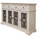 International Furniture Direct Bonanza Ivory Sideboard - Item Number: IFD4150CONS