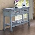 International Furniture Direct Rivera Rustic 2 Drawer Solid Wood Sofa Table