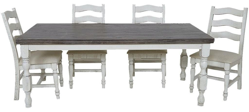 Stone Table and 4 Chairs by International Furniture Direct at Johnny Janosik