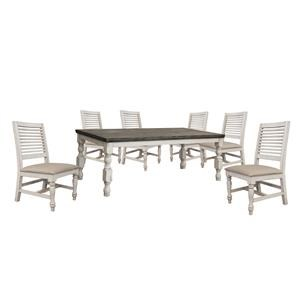 Dining Table and 6 Ladderback Chair