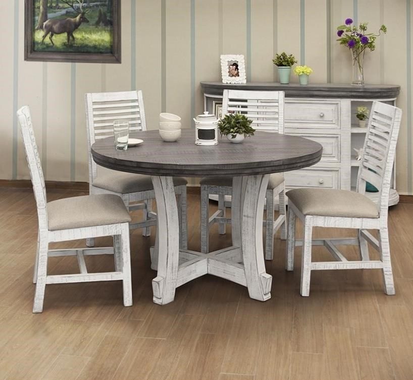 Stone 5-Piece Dining Set by International Furniture Direct at Wilson's Furniture