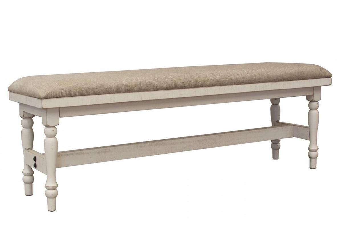 Stone Breakfast Bench with Turned Legs by International Furniture Direct at Wilson's Furniture