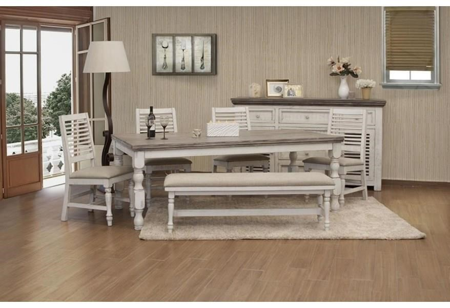 Stone Dining Table by International Furniture Direct at Turk Furniture