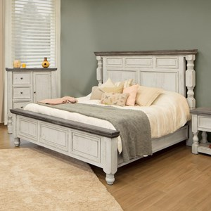International Furniture Direct Stone King Bed