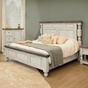 International Furniture Direct Stone Queen Bed - Item Number: IFD4690HBDQE+PLTQE