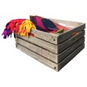 International Furniture Direct Stone Wooden Crate - Item Number: IFD4690WCR