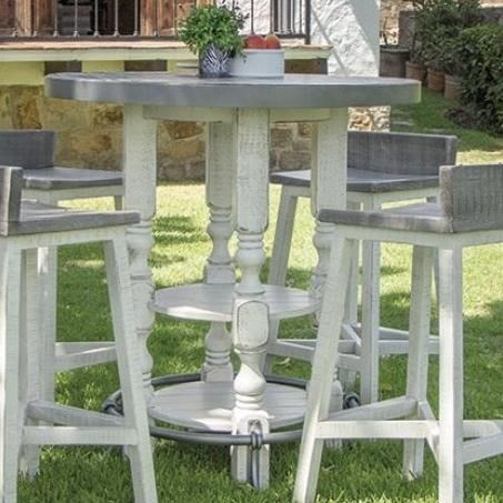 Stone Bistro Bar Table by International Furniture Direct at Zak's Home
