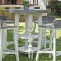International Furniture Direct Stone Bistro Bar Table - Item Number: IFD4691BISTP+BA