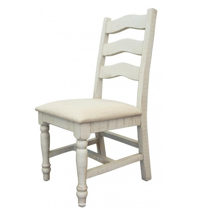 Solid Wood Chair with Fabric Seat