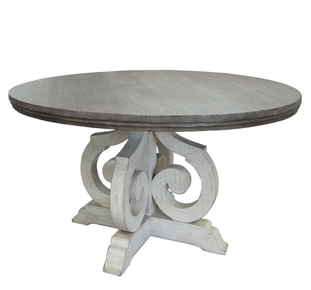 Stone Round Table by International Furniture Direct at Furniture Superstore - Rochester, MN