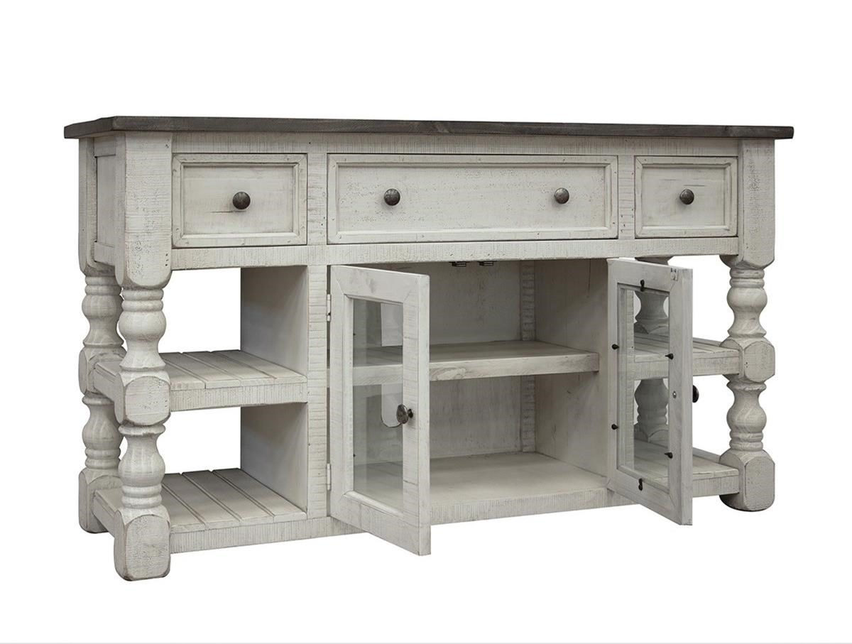 "Stone 60"" TV Stand by International Furniture Direct at Houston's Yuma Furniture"