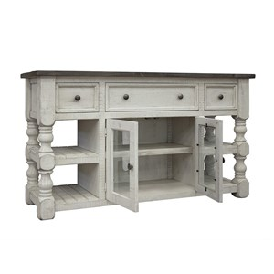 "International Furniture Direct Stone 60"" TV Stand"