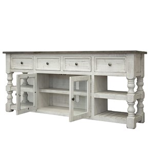 "International Furniture Direct Stone 80"" TV Stand"