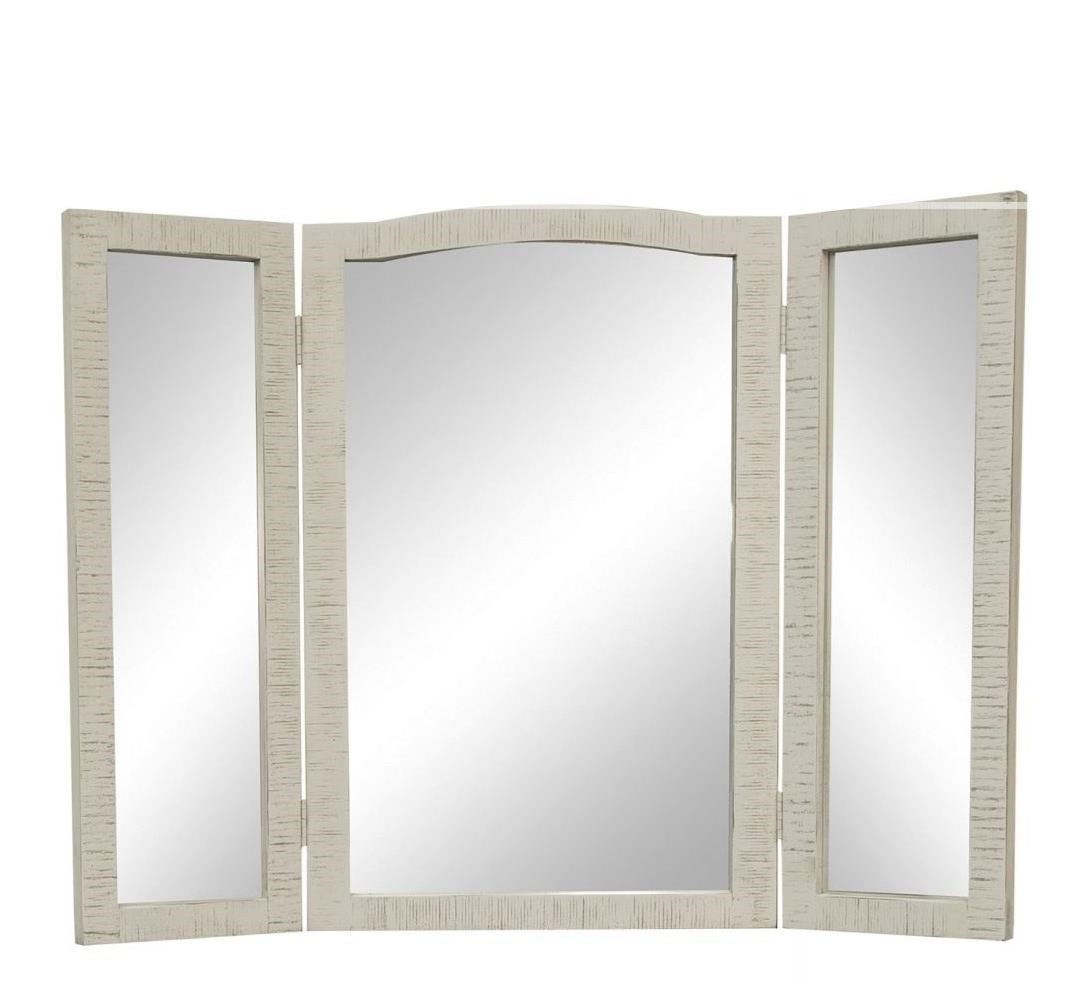 Stone Vanity Mirror by International Furniture Direct at Catalog Outlet