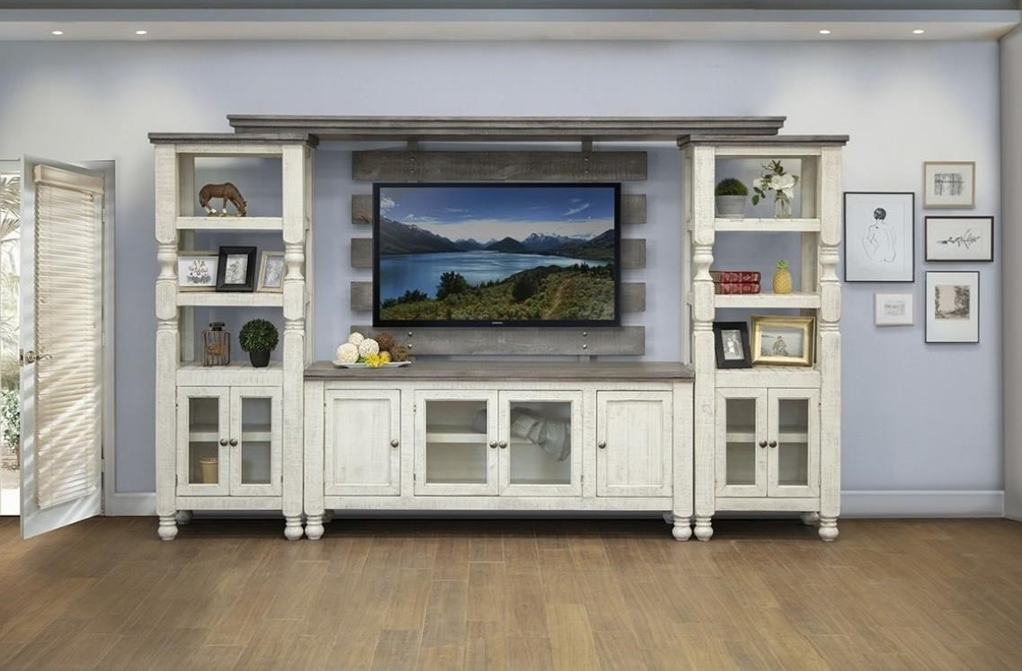 Stone Entertainment Center by International Furniture Direct at VanDrie Home Furnishings