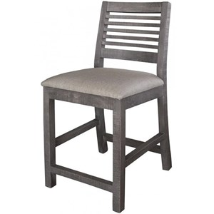 "International Furniture Direct Stone 24"" Bar Stool"