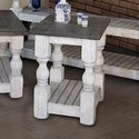 International Furniture Direct Stone Transitional Solid Wood Chair Side Table
