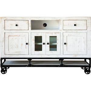 "International Furniture Direct 565 White Urban 60"" TV Stand"