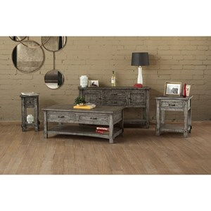 International Furniture Direct 670 Antigua Gray Occasional Table Group