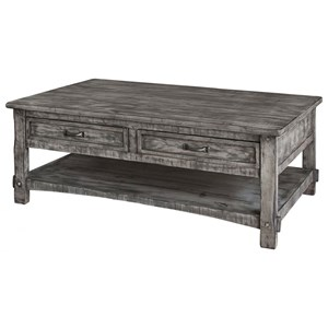 International Furniture Direct 670 Antigua Gray Cocktail Table