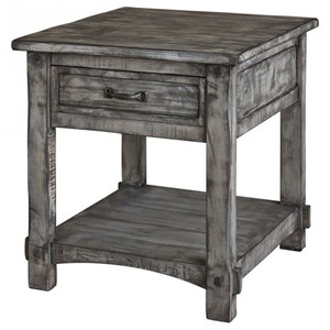 International Furniture Direct 670 Antigua Gray End Table