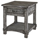 International Furniture Direct 670 Antigua Gray End Table - Item Number: IFD670END