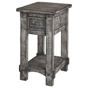 International Furniture Direct 670 Antigua Gray Chairside Table