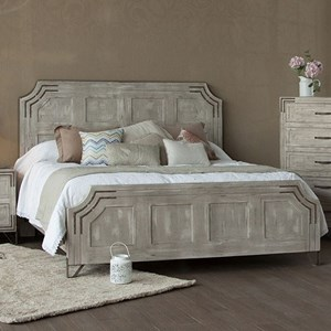 International Furniture Direct Camelia Queen Platform Bed