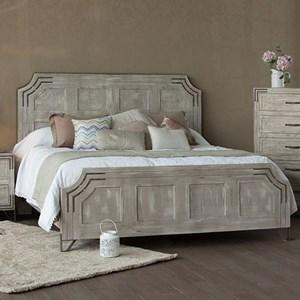 International Furniture Direct Camelia King Platform Bed