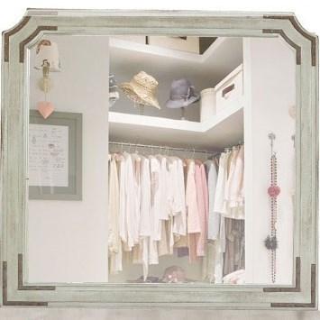 International Furniture Direct Camelia Dresser Mirror - Item Number: IFD690MIRR
