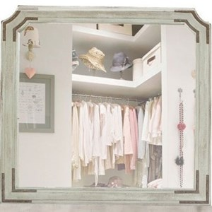 International Furniture Direct Camelia Dresser Mirror