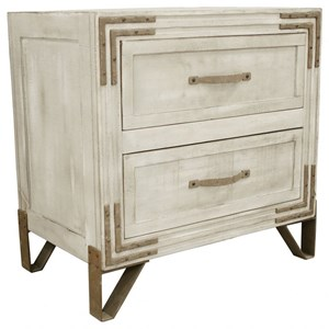 International Furniture Direct Camelia 2 Drawer Nightstand