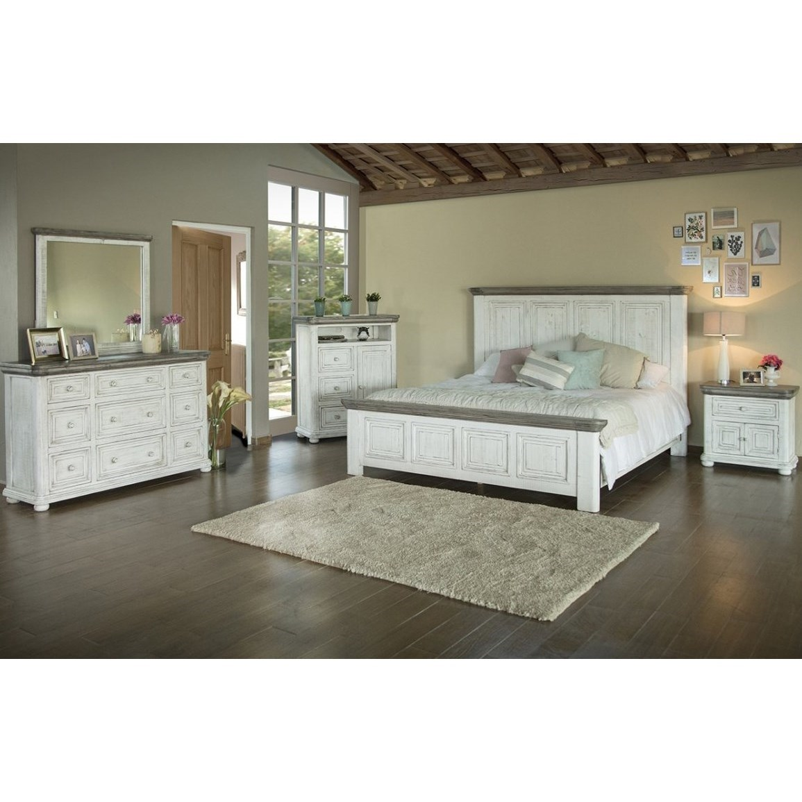 768 Luna King Bedroom Group by International Furniture Direct at Dunk & Bright Furniture