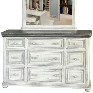 International Furniture Direct 768 Luna 9 Drawer Dresser
