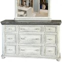 International Furniture Direct 768 Luna 9 Drawer Dresser - Item Number: IFD768DSR