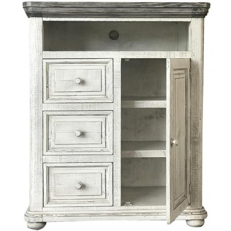 768 Luna Chest with Doors by International Furniture Direct at Catalog Outlet