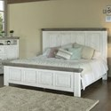 International Furniture Direct 768 Luna California King Panel Bed - Item Number: IFD768HDBD-EK+PLTFR-CK