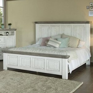 International Furniture Direct 768 Luna Queen Panel Bed