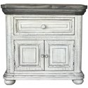 International Furniture Direct 768 Luna Nightstand - Item Number: IFD768NTST