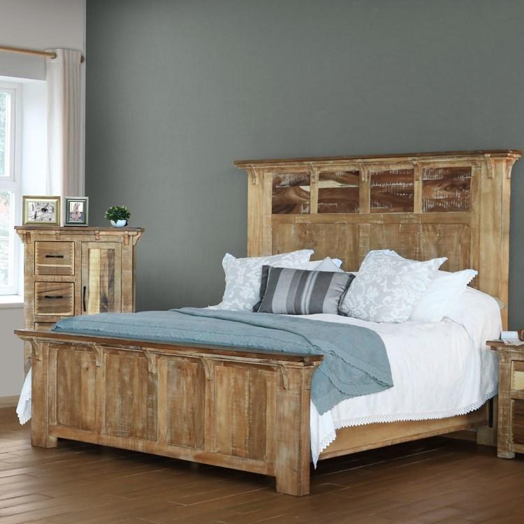 International Furniture Direct Casablanca Queen Bed - Item Number: IFD830HDBD-Q+PLTFRM-Q
