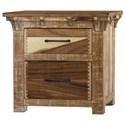 International Furniture Direct Casablanca Two Drawer Night Stand - Item Number: IFD830NTST