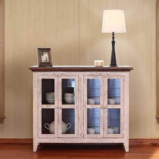 International Furniture Direct 900 Antique Console - Item Number: IFD926CONS-4W