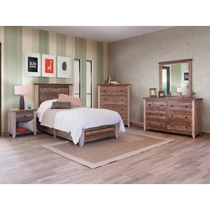 International Furniture Direct 900 Antique Full Bedroom Group