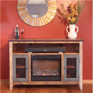 International Furniture Direct 900 Antique Fireplace TV Stand