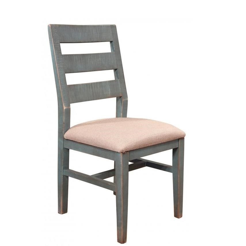 International Furniture Direct 900 Antique Dining Side Chair - Item Number: IFD969CHAIR-BL