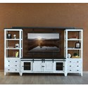International Furniture Direct 960 Entertainment Wall Unit - Item Number: IFD960STAND-68+BRIDGE+2xPIER