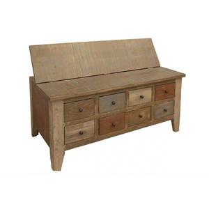 Multi Drawer Cocktail Table w/ 8 Drawers
