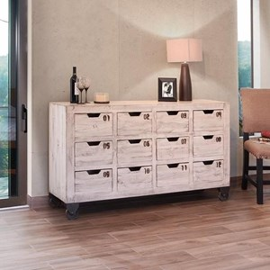 International Furniture Direct 965 Multi-Drawer Console