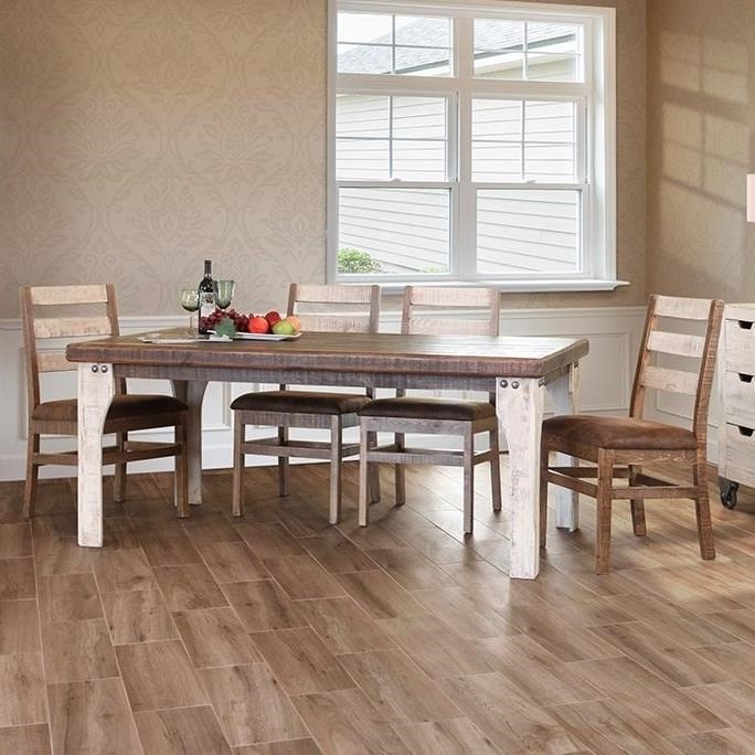 International Furniture Direct 965 Rustic Table And Chair Set Sam